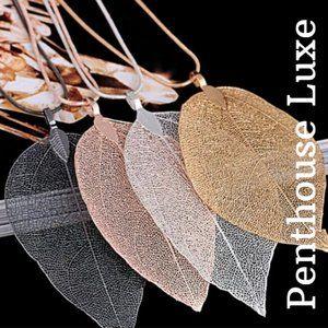 SELLING FAST!! Natural Sterling Leaf Necklace
